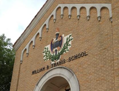 Exterior of Travis ECHS building